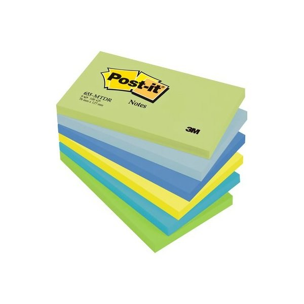 POST-IT 3M 655 6pz 76X127 COLORI FREDDI PASTELLO