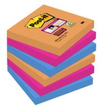 POST-IT 3M 654 6PZ 76X76 BANGKOK SUPER STICKY - 3616S