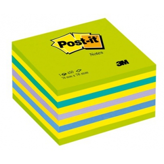 POST-IT 3M CUBO 76X76 450FG 2028NB VERDE LOLLIPOP