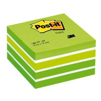 POST-IT 3M CUBO 76X76 450FG 2028G VERDE ACQUA