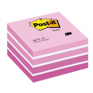 POST-IT 3M CUBO 76X76 450FG 2028P ROSA ACQ.
