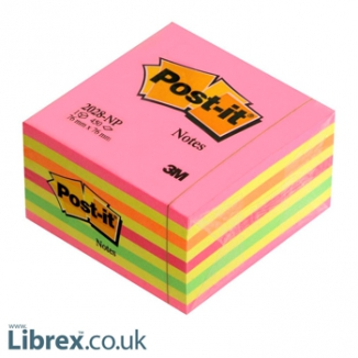 POST-IT 3M CUBO 76X76 450FG 2028NP ROSA LOLLIPOP