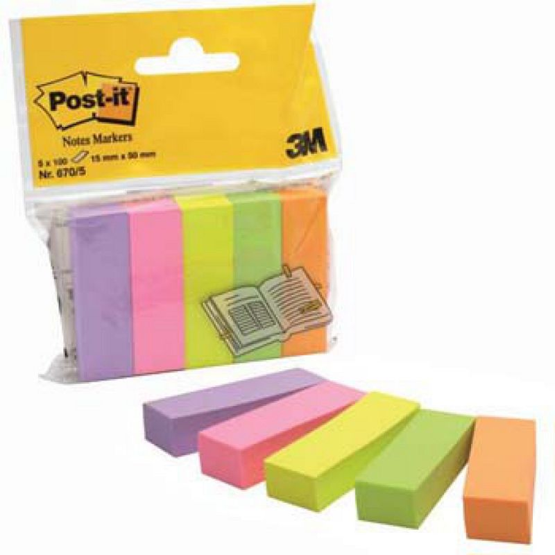 POST-IT 3M 670  5pz 15X50  SEGNAPAGINA