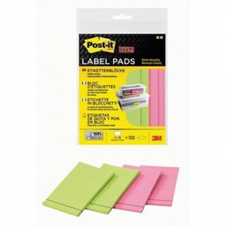 POST-IT 3M 100 ETICHETTE SUPERSTICKY 4X25 27687