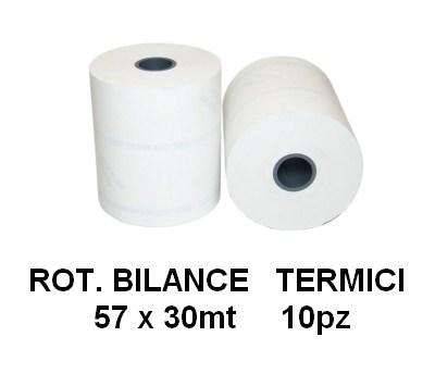 ROTOLI BILANCE E POS TERMICI 57x30mt 10pz - NON ADESIVO - 4625