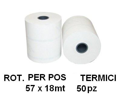 ROTOLI POS TERMICI 57x18mt 50pz