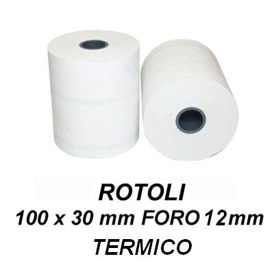 ROTOLI TERMICI 100x30mm - 12mm FORO  1pz