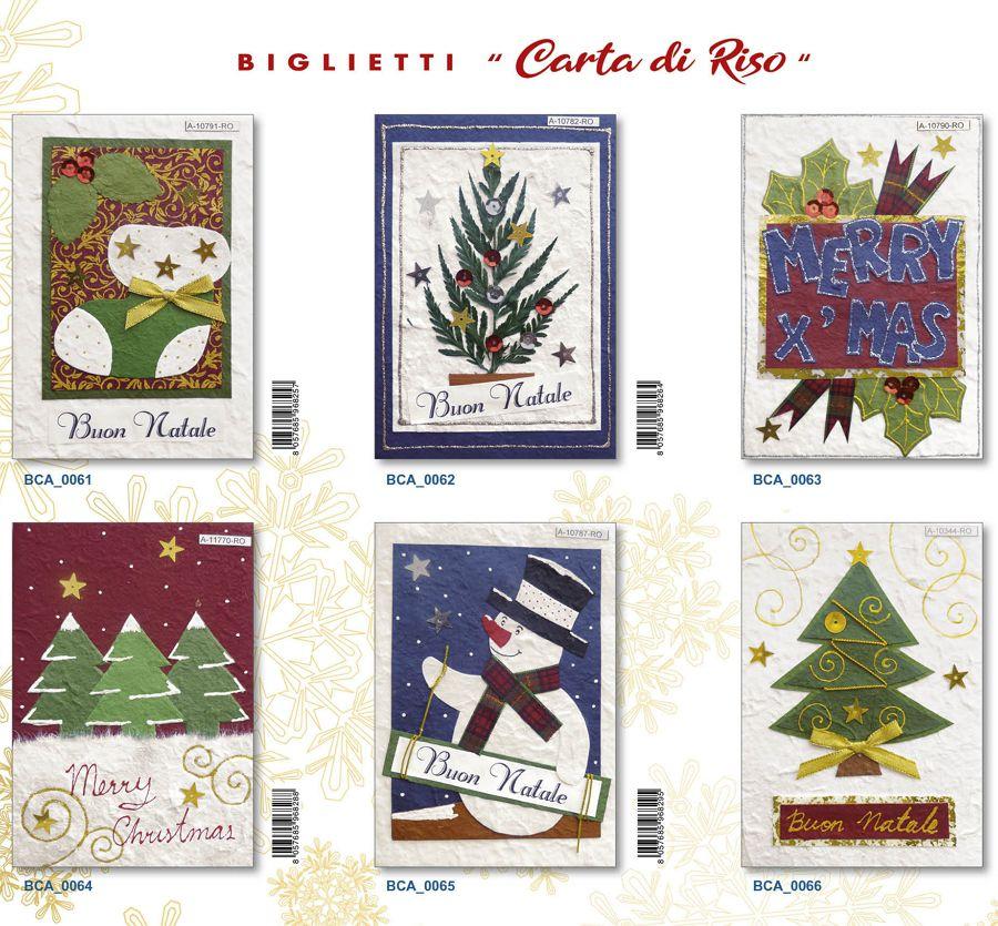 BIGLIETTI EDITALY NATALE 12pz CARTA DI RISO