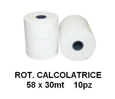 ROTOLI CALCOLATRICE 58x30mt 10pz - R58