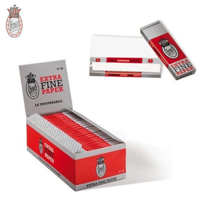 CARTINE BRAVO REX CORTA 50pz EXTRA FINE 89 (Acc. 7,2)-A00037014