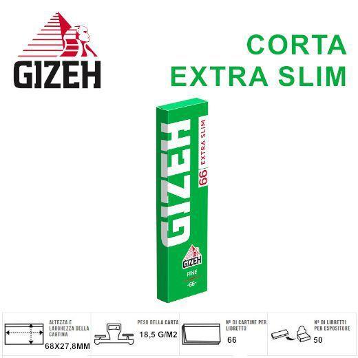 CARTINE GIZEH CORTA FINE EXTRA SLIM 50pz (Acc. 11,88)-PROV-A01074012