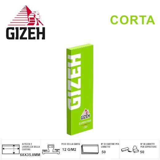 CARTINE GIZEH CORTA VERDE 50pz SUPERFINE (Acc. 9)-PROV-A00069002
