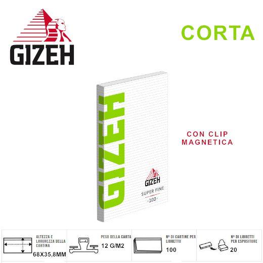 CARTINE GIZEH CORTA GREEN SUPER FINE 20pz Custodia Magnetica - PROV-A01090005