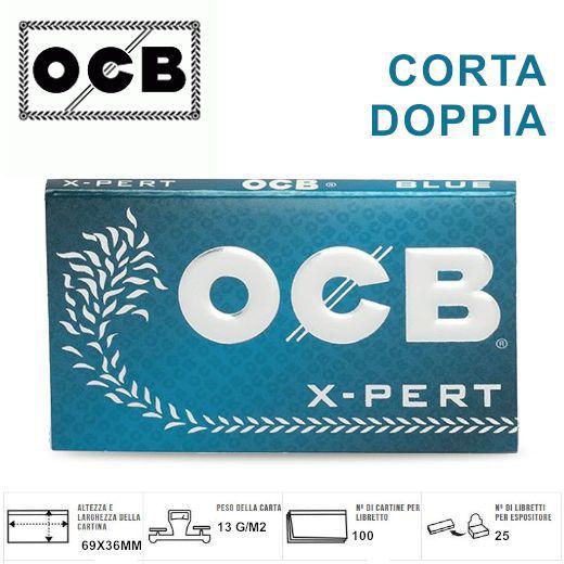 CARTINE OCB CORTA DOPPIA BLUE X-PERT 25pz (Acc. 9)-PROV-A00269005