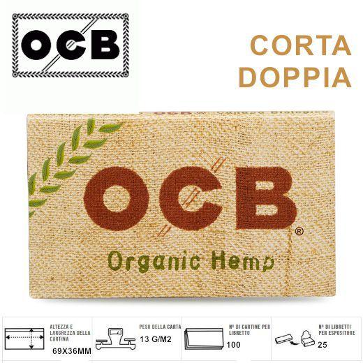 CARTINE OCB CORTA DOPPIA 25pz CANAPA BIO (Acc. 9)-PROV-A00048005
