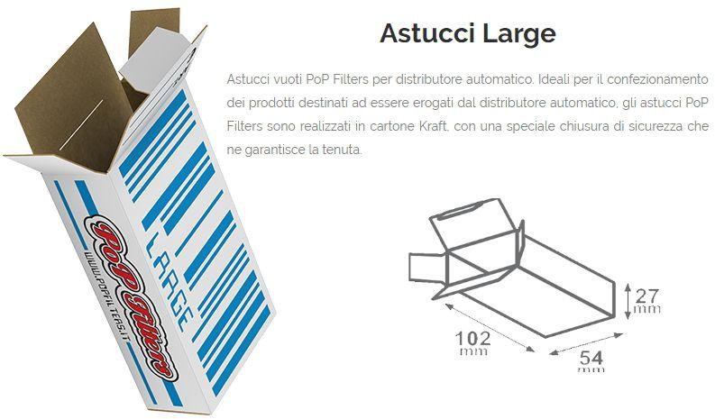 ASTUCCI VUOTI DISTRIBUTORE 250pz LARGE 10,2-5,4-H2,7cm  POP