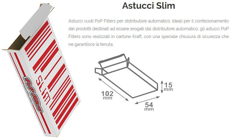 ASTUCCI VUOTI DISTRIBUTORE 250pz SLIM 10,2-5,4-H1,5cm  POP