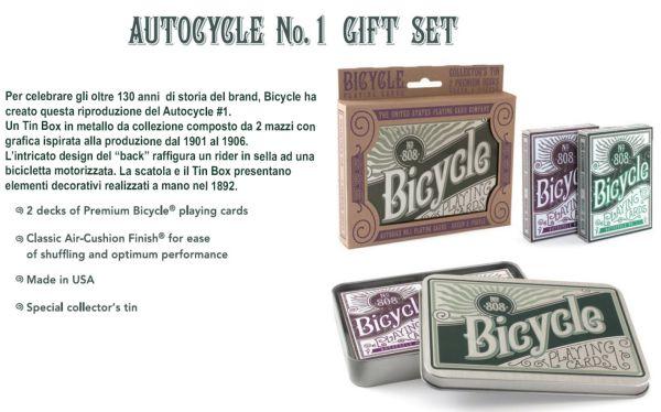 CARTE DA POKER BICYCLE 1pz - tin da collezione autocycle