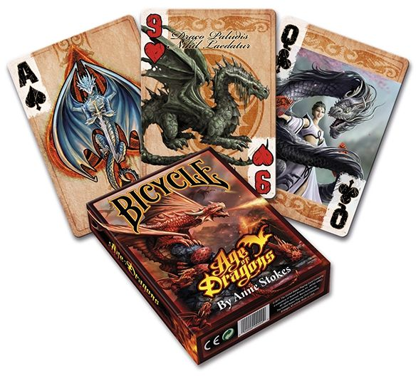 CARTE DA POKER BICYCLE 1pz AGE OF DRAGONS ANNE STOKES