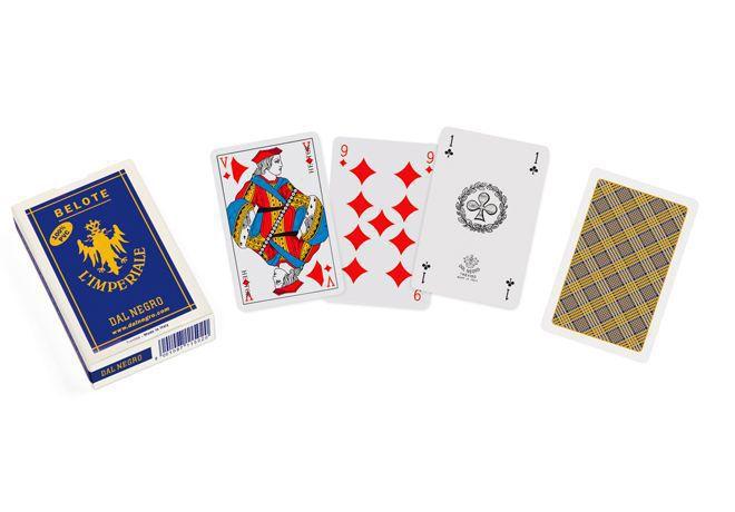 CARTE DA GIOCO BELOTE PVC LE COQ IMPERIALE 32 carte DAL NEGRO 1pz