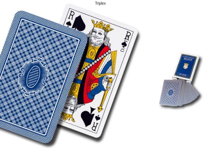 CARTE DA GIOCO BELOTE BLU 32carteDAL NEGRO 1pz