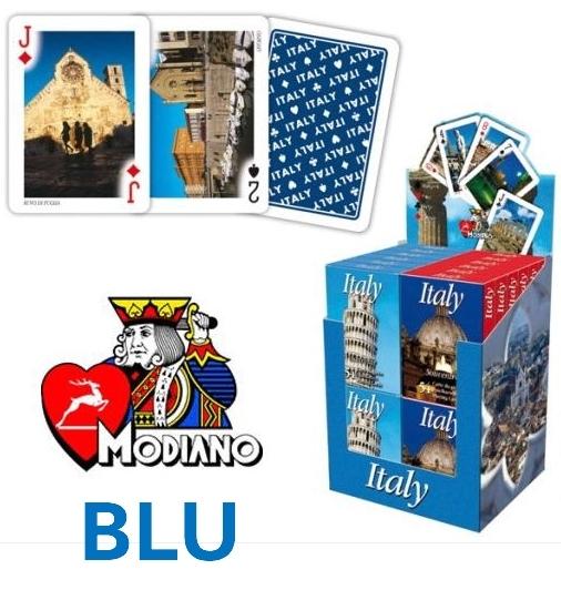 CARTE DA GIOCO POKER CANASTA ITALIA SOUVENIR BLU 1pz MODIANO edizione limitata