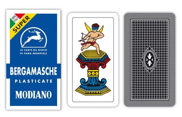 CARTE DA GIOCO BERGAMASCHE BLU MODIANO 1pz SUPER