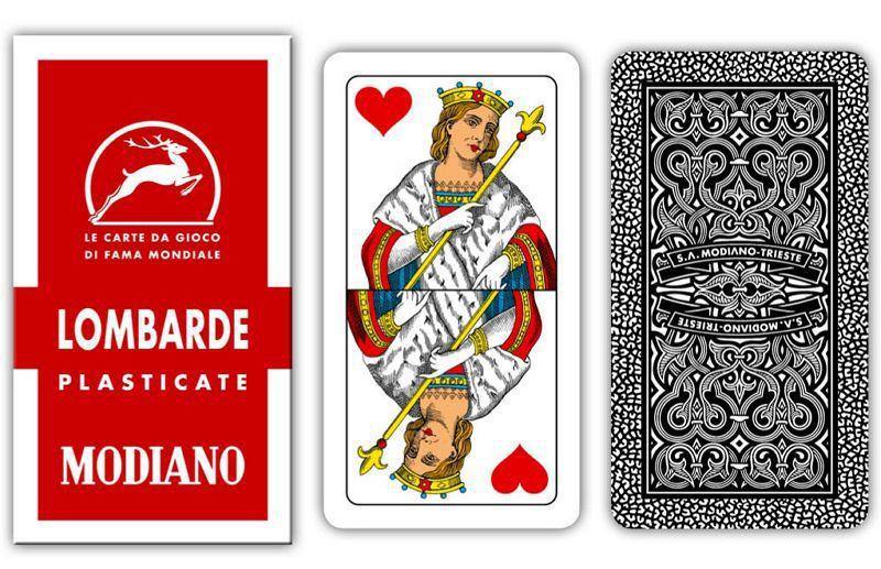 CARTE DA GIOCO LOMBARDE ROSSO 6 MODIANO 1pz