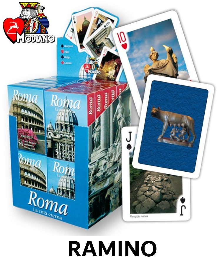 CARTE DA GIOCO RAMINO ROMA ROSSO 1x2pz MODIANO