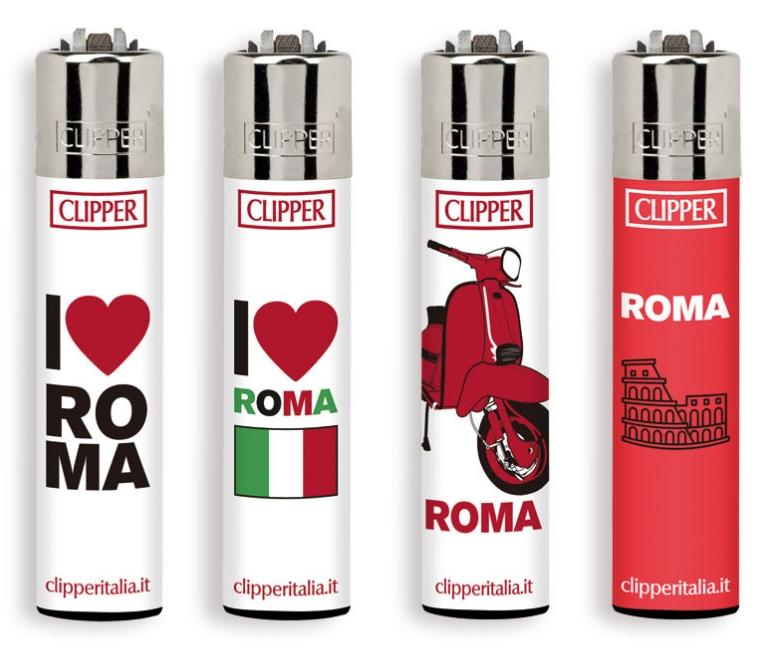 ACCENDINO CLIPPER PIETRINA 48pz ROMA 3