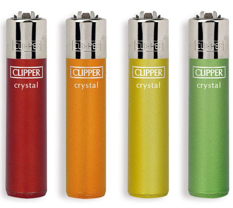 ACCENDINO CLIPPER PIETRINA 48pz CRYSTAL RAINBOW