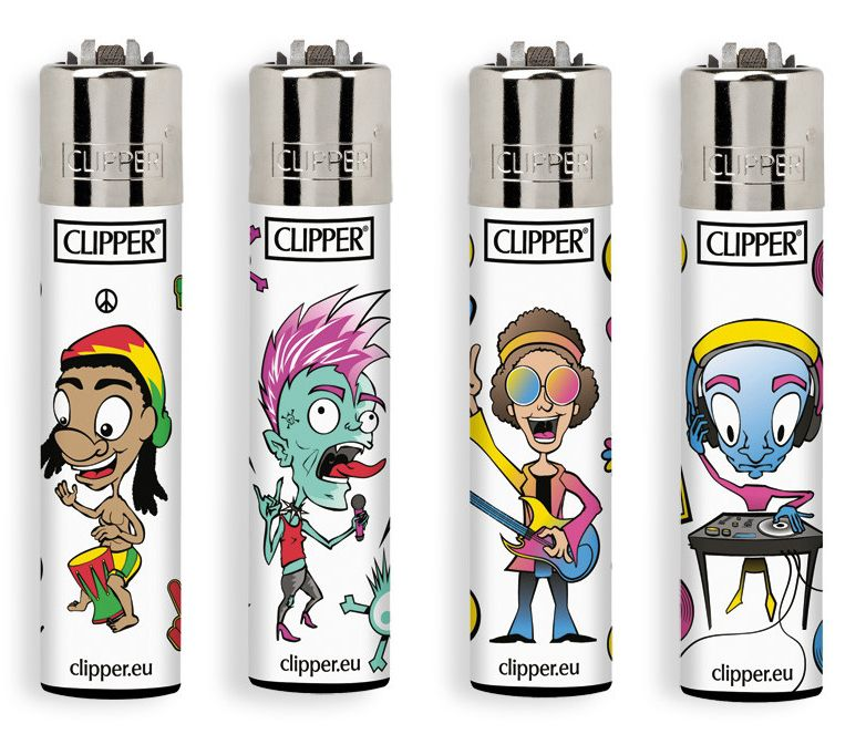 ACCENDINO CLIPPER PIETRINA 48pz MUSIC GENERATION