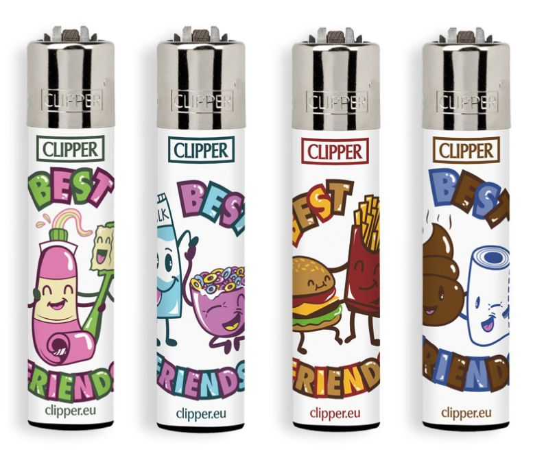 ACCENDINO CLIPPER PIETRINA 48pz FRIENDS 4EVER