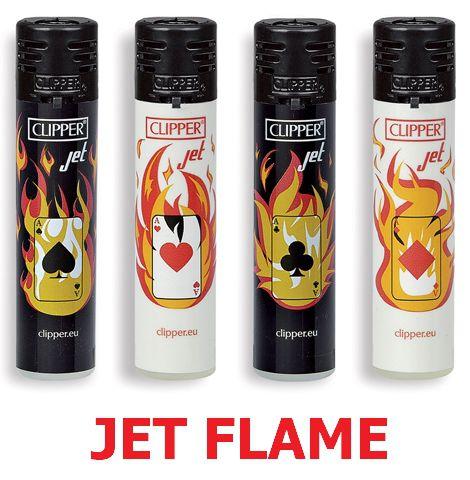ACCENDINO CLIPPER JET FLAME 24pz POKER FIRE