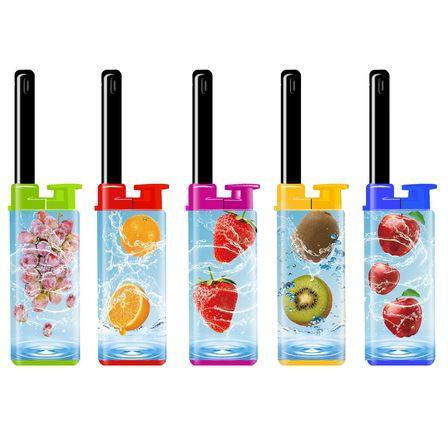 ACCENDIGAS RICARICABILE ATOMIC MINI 25pz FRUITS