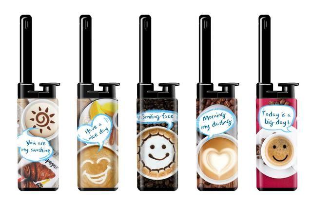 ACCENDIGAS RICARICABILE ATOMIC MINI 25pz COFFEE