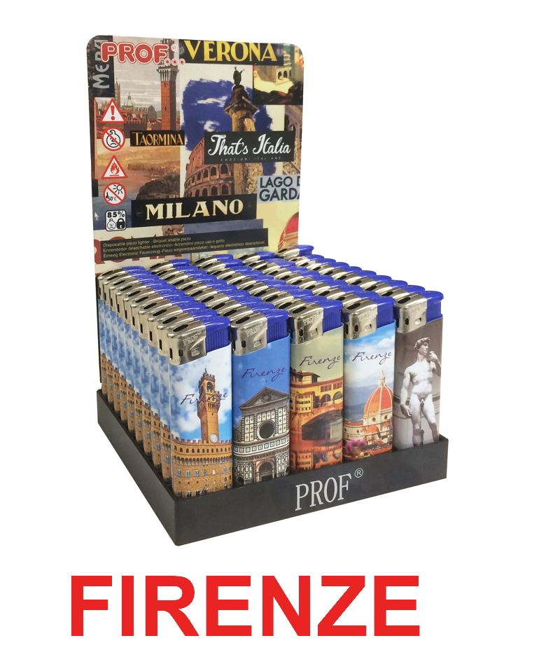ACCENDINO PROF ELETTRONICO 50pz FIRENZE - RICARICABILE