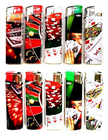 ACCENDINO ATOMIC ELETTRONICO 50pz GAMBLING RICARICABILE
