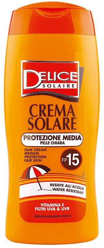 SOLARI DELICE CREMA 250ml FP15 PROTEZIONE MEDIA - C12