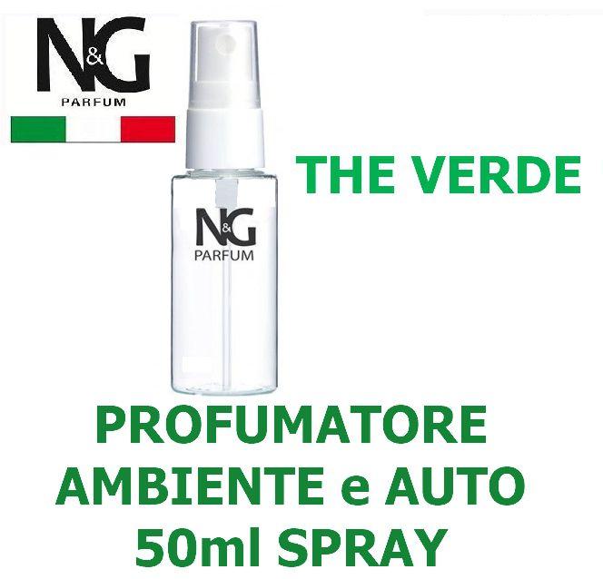 PROFUMATORE SPRAY NG 50ml 1pz THE VERDE - AMBIENTE / AUTO - ECOLOGICO