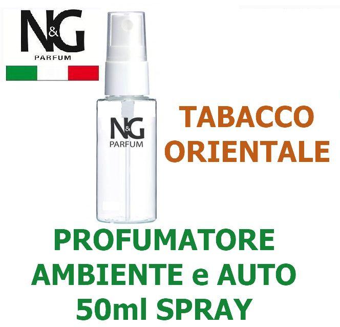 PROFUMATORE SPRAY NG 50ml 1pz TABACCO ORIENTELE - AMBIENTE / AUTO - ECOLOGICO