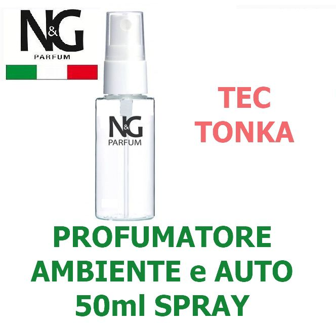 PROFUMATORE SPRAY NG 50ml 1pz TEC E TONKA - AMBIENTE / AUTO - ECOLOGICO
