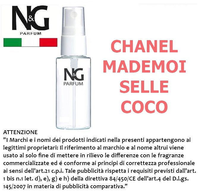 PROFUMO NG 50ml 1pz N.18 DONNA (CHANEL MADEMOISELLE COCO) - ECOLOGICO