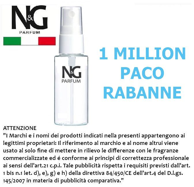 PROFUMO NG 50ml 1pz N.12 UOMO (1 MILLION P.R.) - ECOLOGICO