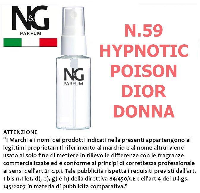 PROFUMO NG 50ml 1pz N.59 DONNA (HYPNOTIC POISON DIOR) - ECOLOGICO