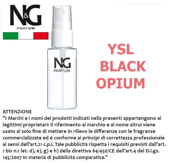 PROFUMO NG 50ml 1pz N.65 DONNA (YSL BLACK OPIUM) - ECOLOGICO