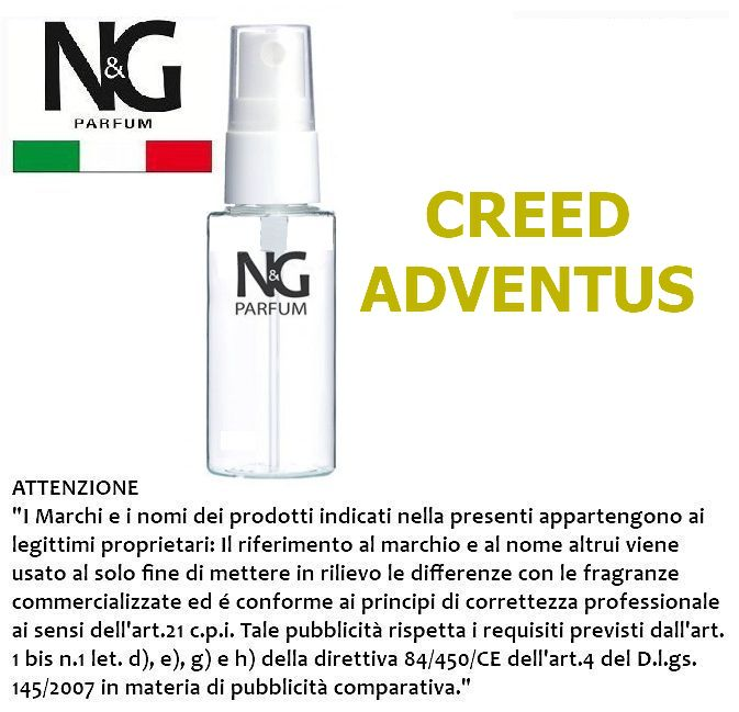 PROFUMO NG 50ml 1pz N.77 UNISEX (CREED ADVENTUS) - ECOLOGICO