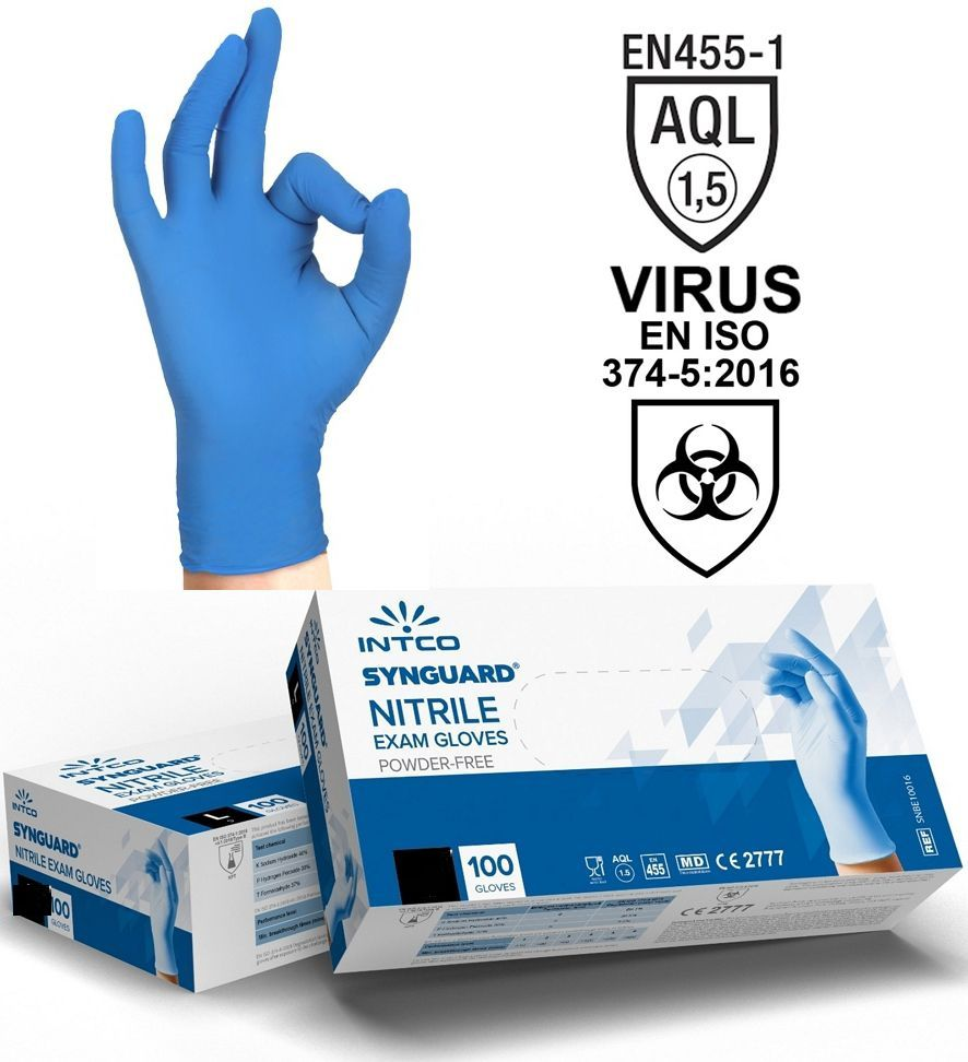 GUANTI NITRILE Tg.S SMALL 100pz - USO MEDICO senza polvere