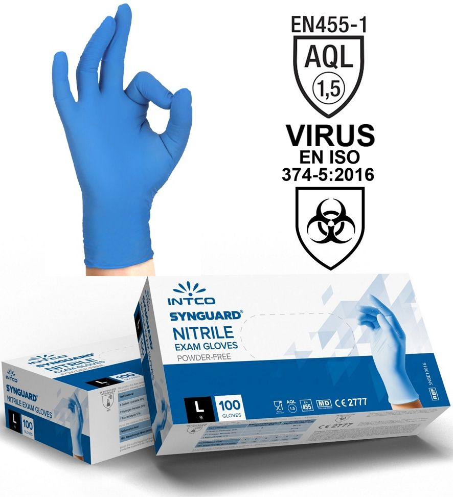GUANTI NITRILE Tg.L LARGE 100pz - USO MEDICO senza polvere