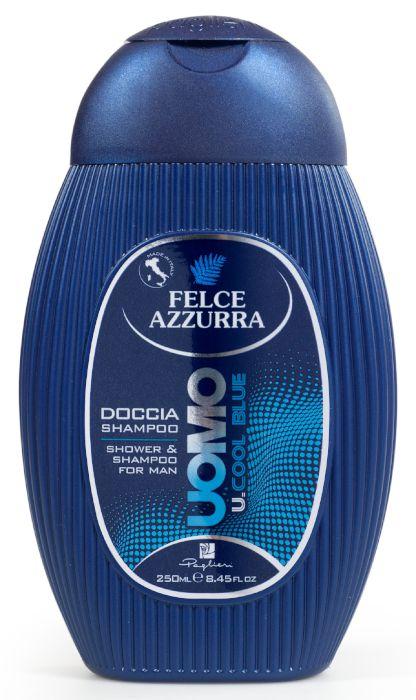 DOCCIASCHIUMA SHAMPOO FELCE AZZURRA UOMO COOL BLUE 250ml 1pz PAGLIERI - C12